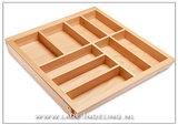 Verstelbare bestekbak hout