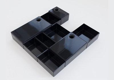 Orgalux Badkamer - Deluxe, hoogte 75mm, zwart