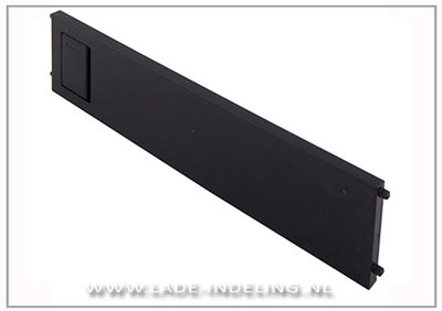 Steel Stacey dwarsverdeling, 200 mm breed, zwart