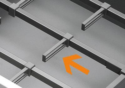 Dwarsverdeling reling LEGRABOX lades